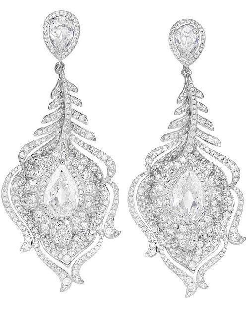Earrings. Chopard jewellery for Palme d'Or 60th anniversary