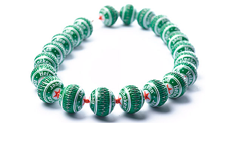Recycled beverage and beer caps bracelet by Yoav Kotik, designer from Israel