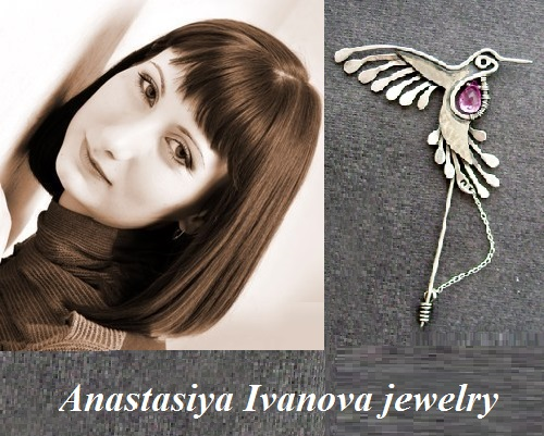 Russian jeweler, artist of applied art Anastasiya Ivanova