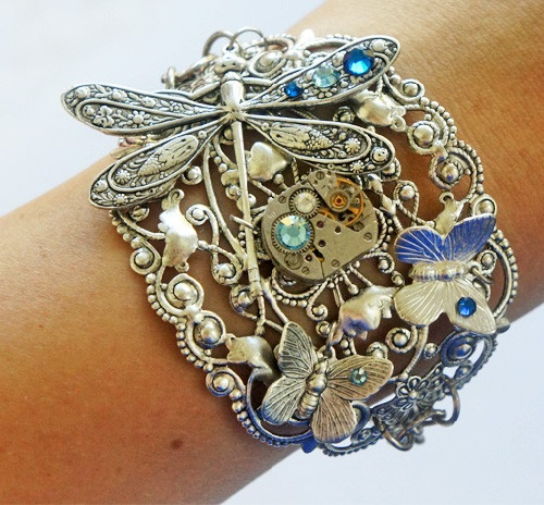 Steampunk Bracelet Fairy Meadow