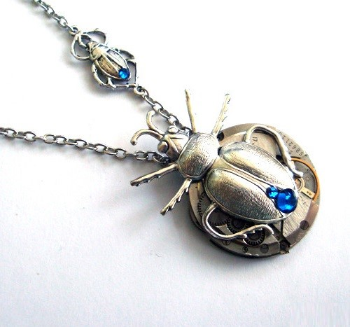 Steampunk Pendant Family of beetles