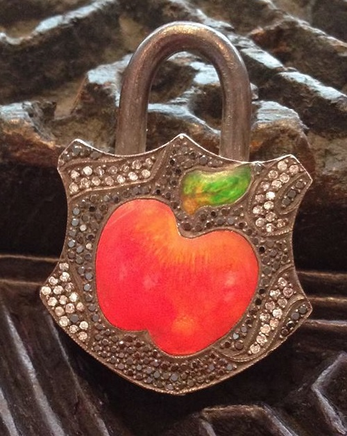 The apple of our eye padlock