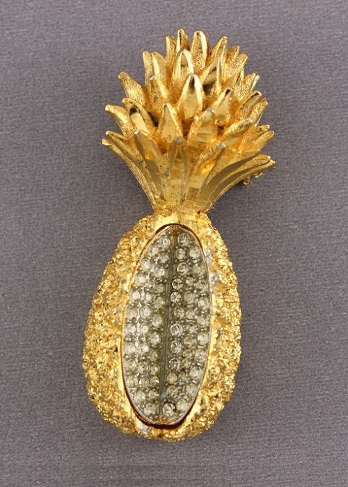 Vintage Brooch HATTIE CARNEGIE Pineapple
