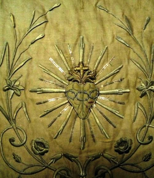 19th century. French Sacred Heart banner