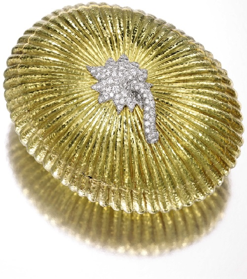 8 Karat Gold, Platinum and Diamond Evening Bag, David Webb