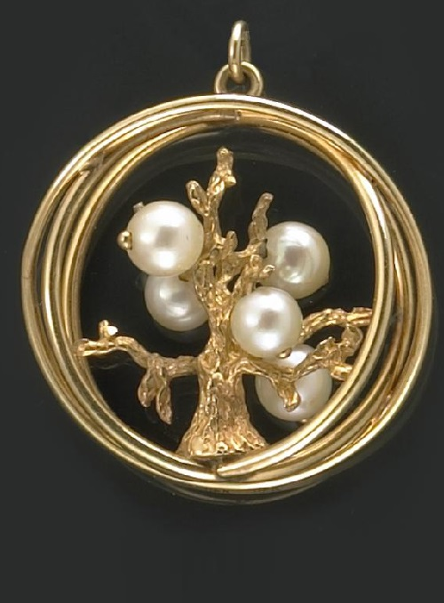 A gold and pearl Tree of Life pendant. Auction California Classic Bonhams
