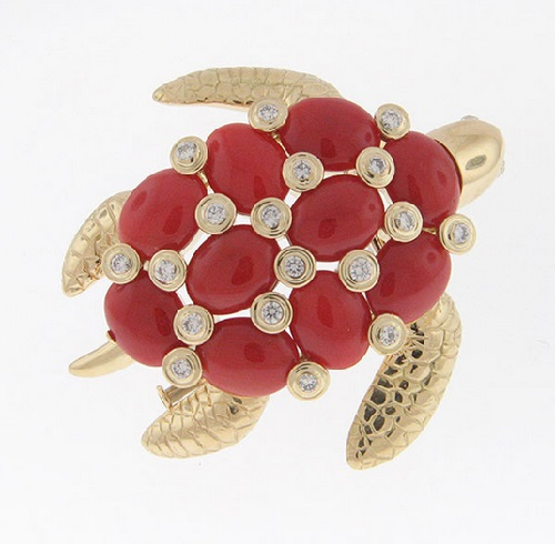 Turtle brooch Aletto Brothers