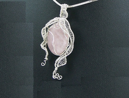 Astrological sign Virgo. Wire-work pendant by Huan Pham