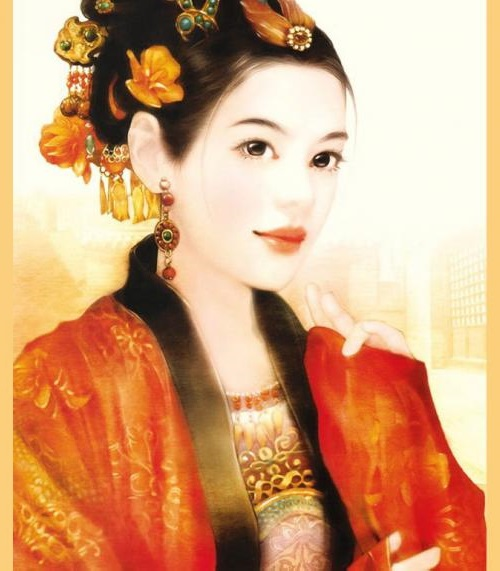 Chinese girl in the picture of Taiwanese artist Der Jen