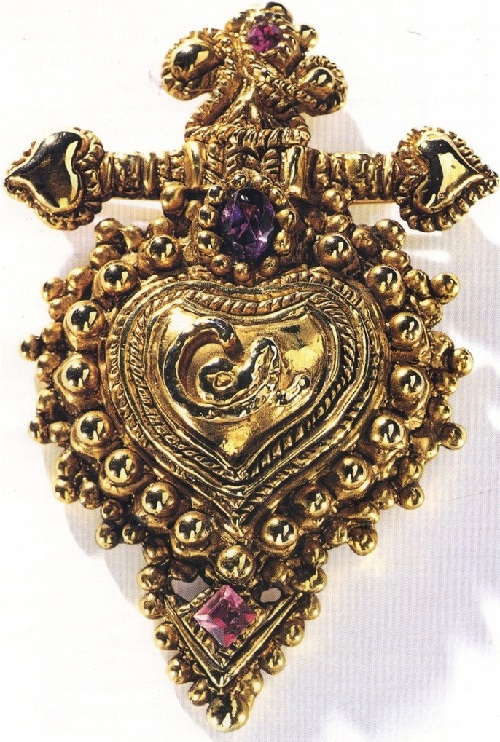 Christian Lacroix Sacred Heart brooch