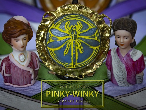 Copyright ring Dragonfly extra large from Pinky Winky