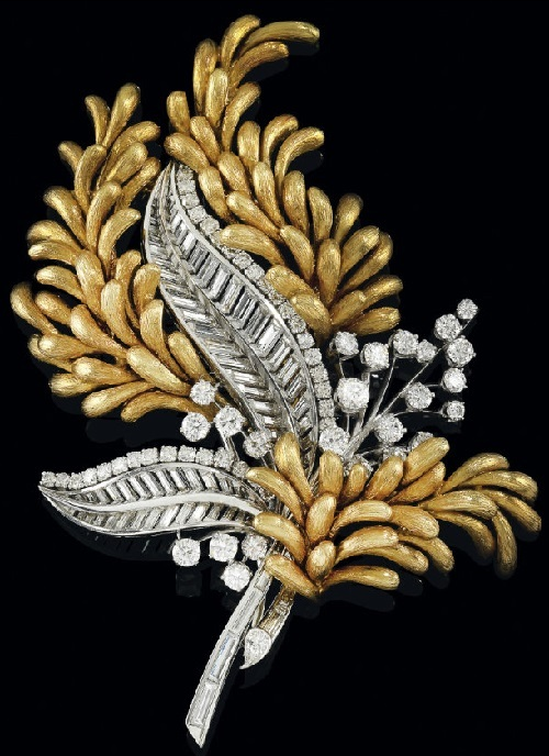 David Webb diamond brooch