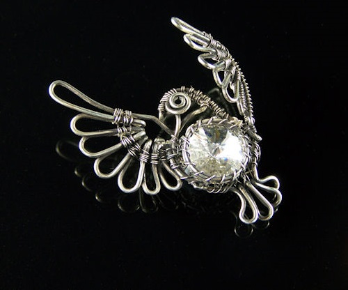 Dove Brooch
