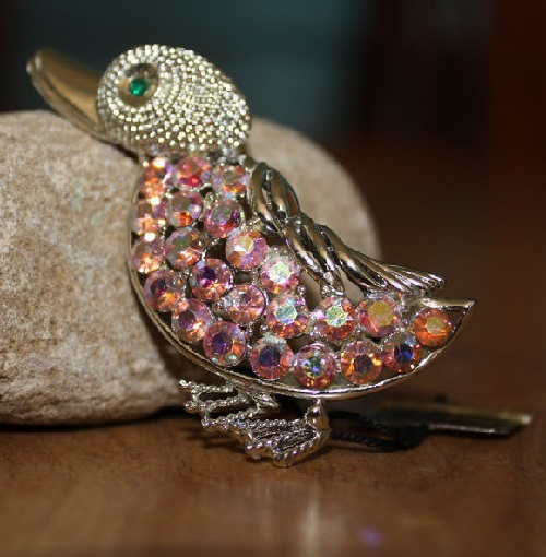 Duckling. Lovely Brooch of Coro. Produced in the 1960s in the United States