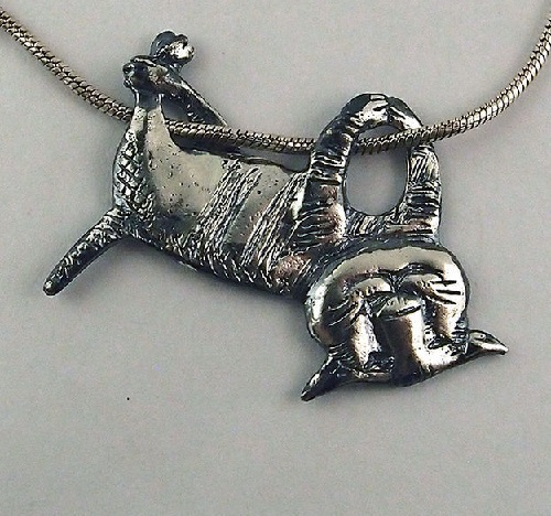 Edward Gorey Cat Necklace