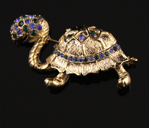 Brooch Turtle. Coro vintage jewellery
