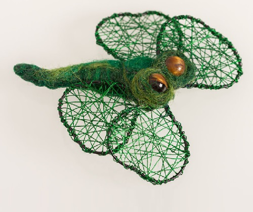 Green Bee brooch