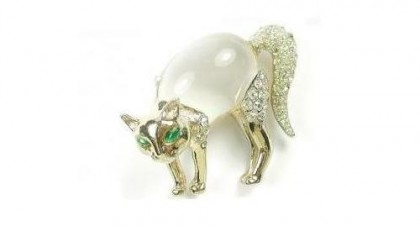 Jelly Belly brooch Cat, vintage, 1930s