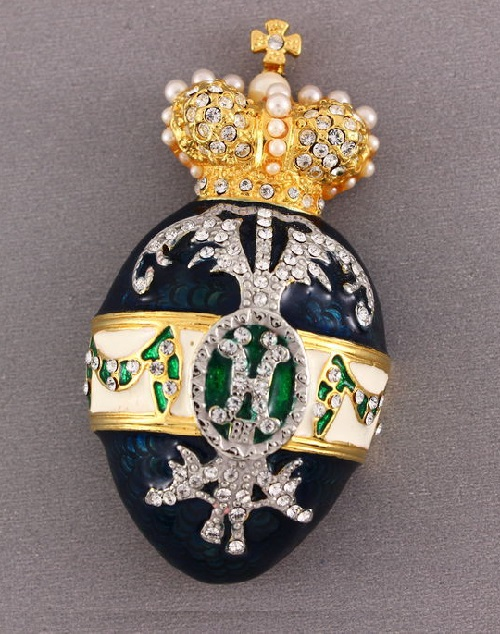 Joan Rivers vintage Faberge style brooch