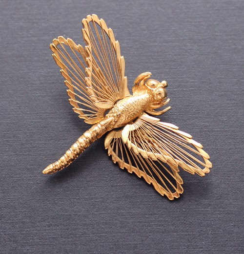 Brooch Dragonfly, 1966. Vintage Monet Jewellery
