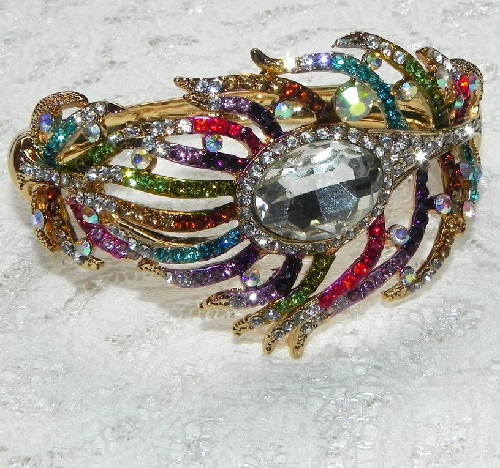Peacock Feather Bracelet, Kirks Folly, United States