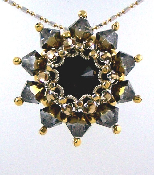Rivoli Pendant made in author's technique