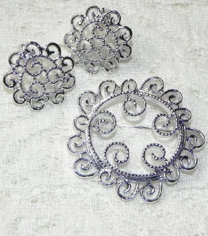 Set of silver mist, Sarah Coventry costume jewelry
