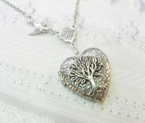Silver Tree Of Life Locket - Jewelry by BirdzNbeez