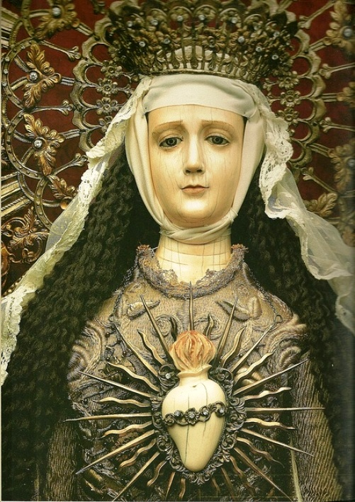 The Immaculate Heart of Mary by Leoncio Asuncion y Molo (1813 -1888) Filipino