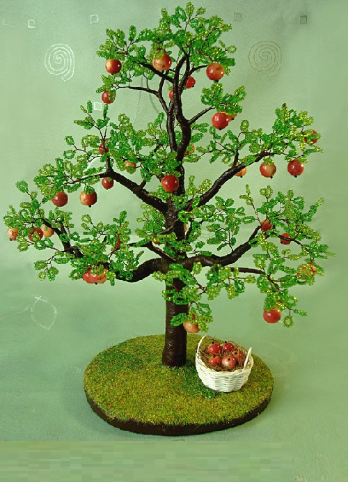 Tree of beads and coral limestone