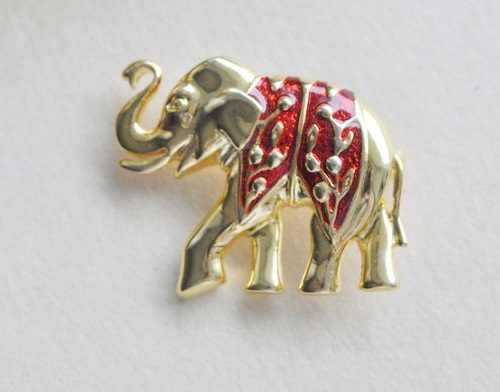 Vintage Brooch Elephant. USA, 1980s