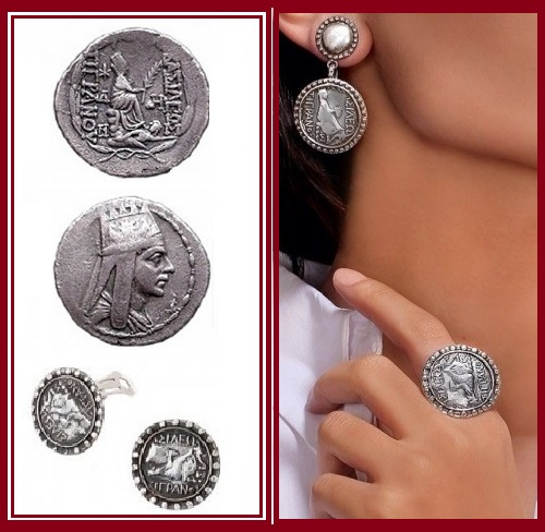 All accessories depict Armenian Emperor Tigran Mets, who ruled from 95-55 BC