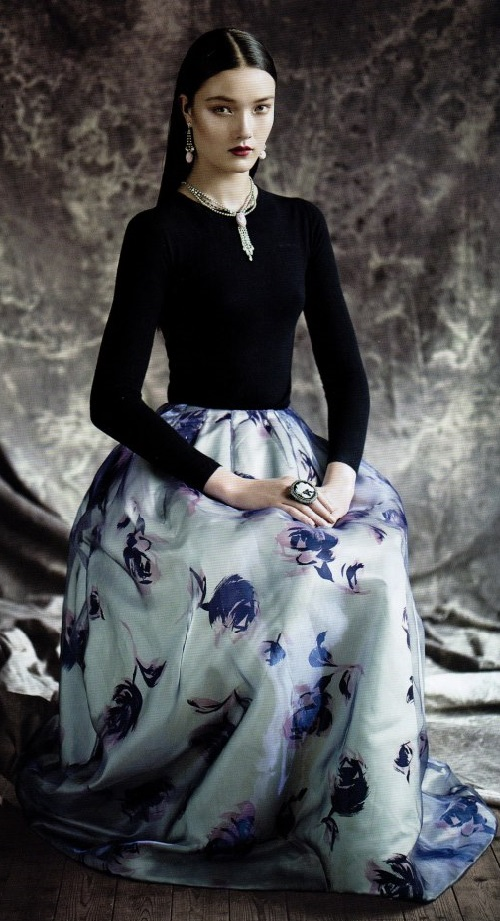 Beautiful shoot in Vogue China with Lydia Courteille's jewelry