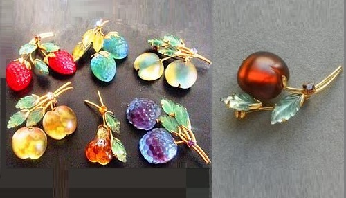Berry and fruit vintage jewellery