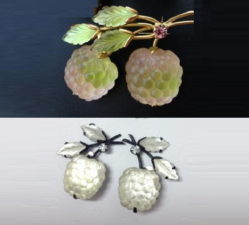 Berry and fruit vintage jewelry