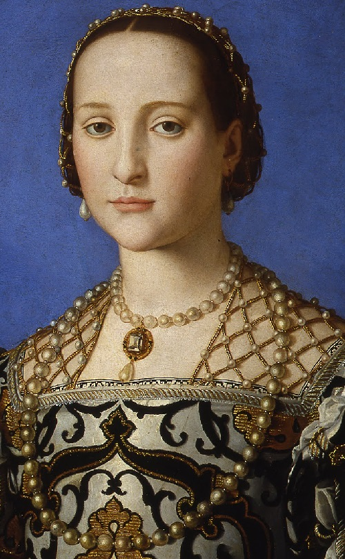 Bronzino. Eleonora of Toledo, decoration detail