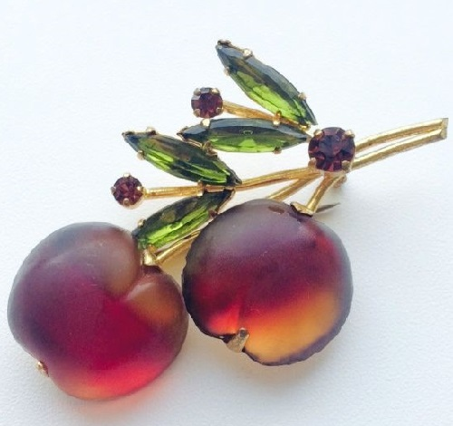 Cherry. Berry and fruit Austrian vintage jewellery