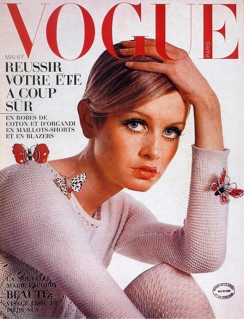 Cover girl Twiggy, Vogue