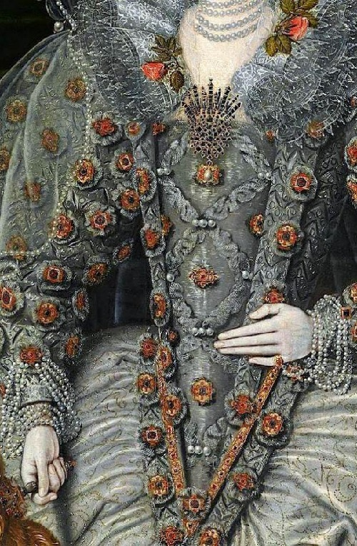 Detail of Tudor era dress