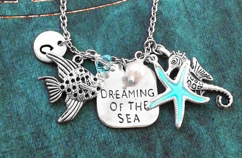 Dreaming of the Sea Necklace Silver Beach Jewelry