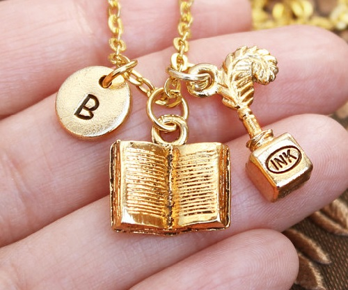 Inkwell book Necklace