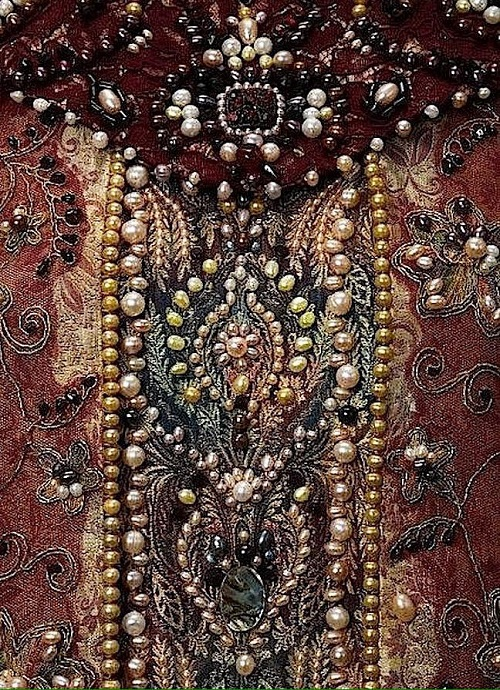 Luxurious Tudor era dress