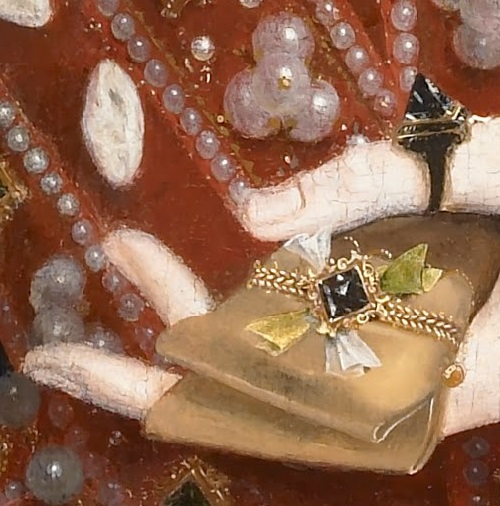 Nicholas Hilliard. Portrait of Queen Elizabeth I detail (hand)