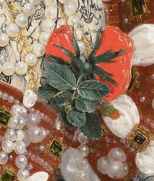Nicholas Hilliard. Portrait of Queen Elizabeth I, detail of costume decoration