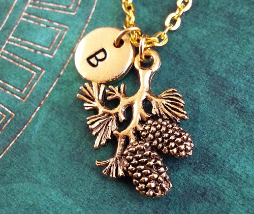 Pine Tree Branch Necklace