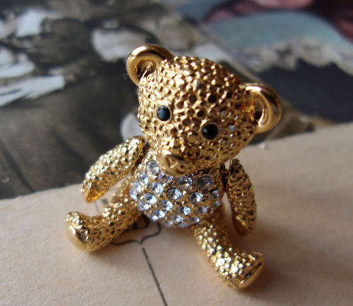 Napier vintage jewellery Teddy Bear