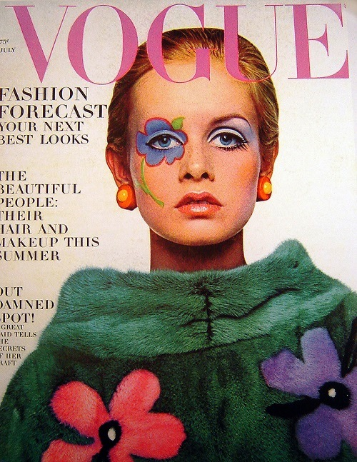 Twiggy was on Vogue cover four times