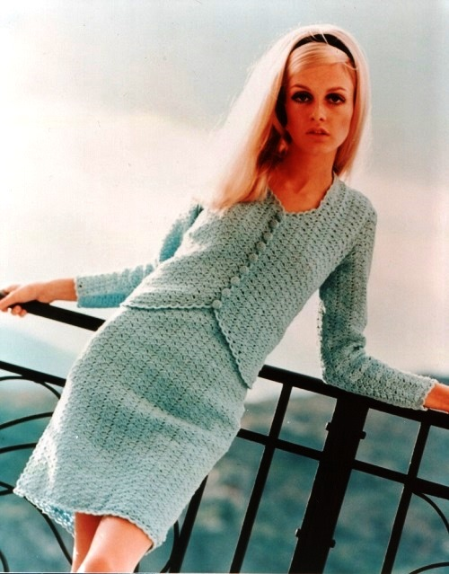 Vintage fashion model Twiggy
