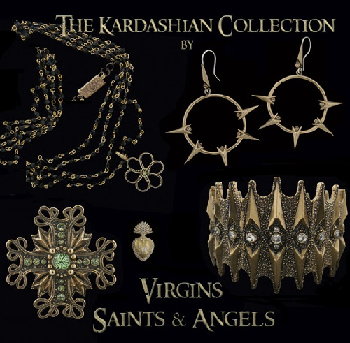 Virgin Saints and Angels jewelry collection by Kardashian