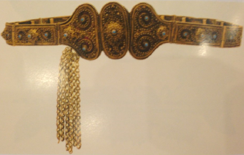 Women belt, gold plated silver. Yerevan. The end of the XIX century